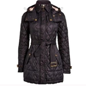 Burberry quilted finsbridge hooded jacket